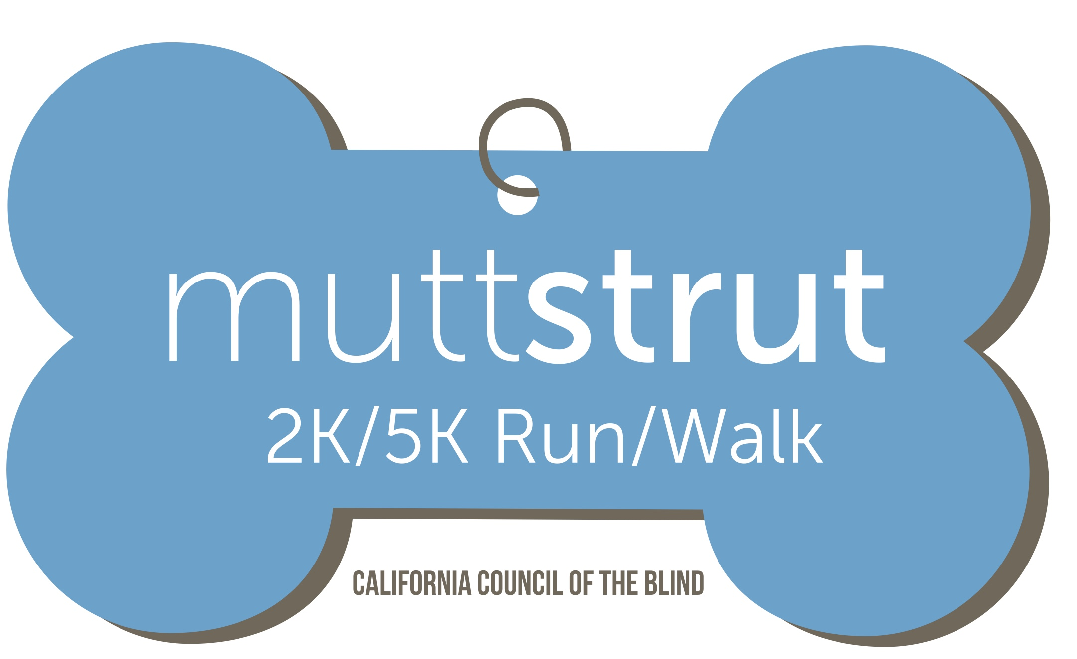 2015 Mutt Strut Blue Dog Tag Bone Logo